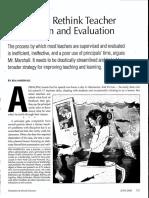 Teacher Supervision Article Kim Marshall