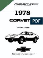 1978 Chevrolet Corvette Specifications