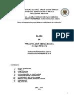 Silabo Parasitologia Medica Basica 2015 II MEDICINA HUMANA
