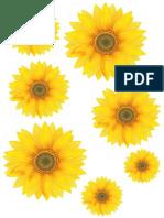 hiasan bunga matahari