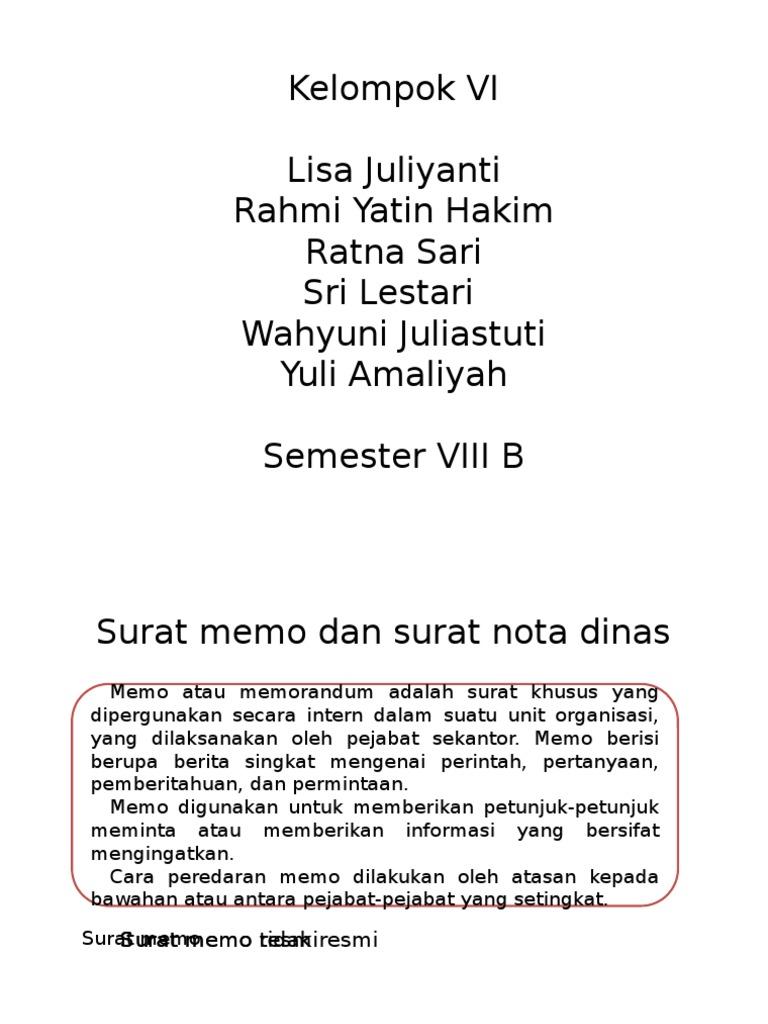 Surat Memo