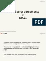 Trade Secrets Agreements v. NDAs