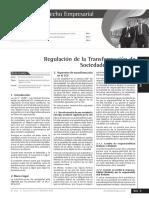 Regulación de La Transformación de Sociedades en El Perú