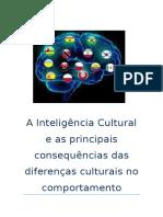 A Inteligência Cultural e as Principais Consequências Das Diferenças Culturais No Comportamento Humano e Nas Organizações