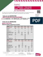 Les prévisions de trafic sur la ligne Polt et les TER
