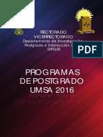 Guia Postgrado UMSA 2016