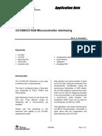 0435.AN009 CC1000 CC1050 Microcontroller Interfacing
