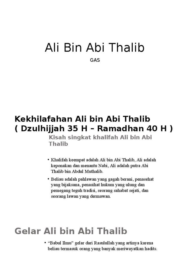 Ali Bin Abi Thalib pptx