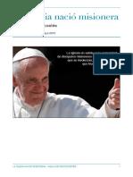La Iglesia nació misionera. Vigilia Pentecostés 2015.pdf