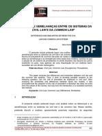 Diferenças e Semelhanças Entre Os Sistemas Da Civil Law e Da Common Law1