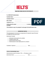 Ielts Authorization Form