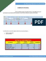 Formato en Excel - Hoja de Trabajo 1