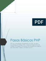Pasos Básicos PHP