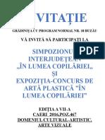 0 Invitatie Simpozion Interjudetean Si Expozitiaconcurs in Lumea Copilariei