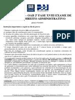 2o Simulado Administrativo - 2aFase XVIII Exame de Ordem