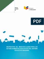 Instructivo de Inicio de Clases 2016-2017