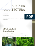 Vegetacion en la Arquitectura