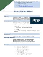 M SAEED CV
