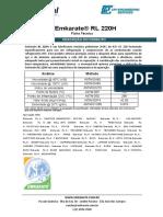 Emkarate RL 220H Ficha Técnica