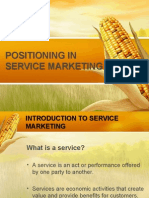 Positioning in Service Markething