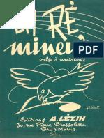 André Lézin - Frédo Cariny - En Ré Mineur - Waltz - Sheet Music