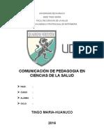 Comunicacion de Pedagogia en Ciencias de La Salud