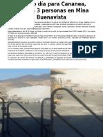 Mueren Tres Trabajadores en Mina de Grupo México en Sonora