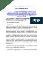 Texto Único Ordenado Del Reglamento Nacional de Tránsito D S Nº 016-2009-MTC