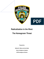 NYPD Report-Radicalization in the West