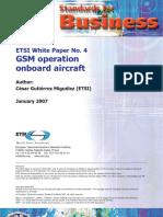 Etsi-wp4 Gsm Onboard