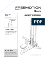 FreeMotion Bicep F602 Assembly