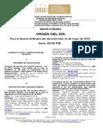 Plenaria-Orden Del Dia-Proyectos (2016!05!25) (1)