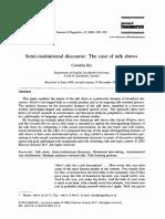 Cornelia Ilie - Semi-Institutional Discourse_The Case of Tal...