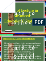 Advanced Educational Statistics - Descriptive (Powerpoint)