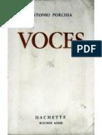 Porchia, Antonio - Voces