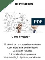 Slides FGV - GESTÃO DE PROJETOS