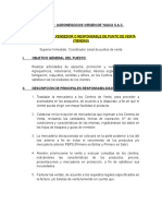 Manual de Cargos Vendedor