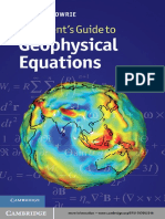 Guide to Geophysical Equations