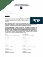 Letter asking Mayor Kuhn to resign