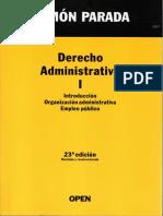 DERECHO ADMINISTRATIVO I, RAMÓN PARADA, 23° ed OPEN, 2013, ESPAÑA,P 330