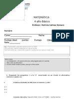 Prueba Matematica Unidad 1 2016 Lista