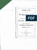Wilson Bohannan Padlock Catalog - 1869
