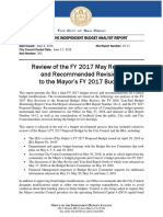 San Diego IBA Review of the FY 2017 May Revision and Recommended Revisions to the Mayor's FY 2017 Budget