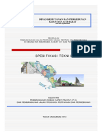 Spesifikasi Teknis Jalan Usaha Tani Meureubo Cs