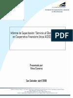Informe Final Cap Servicio Cliente-Acocomet