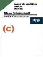 Krippendorff - Metodología de Análisis de Contenido, Teoría y Práctica