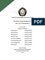 Kelompok 2 (Parameter Kimia Kualitas Air Dan Cara Penentuannya)