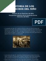 Historia de Los Derechos Del Niño