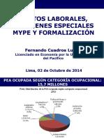 Costos Laborales Regímenes Especiales MYPE y Formalización