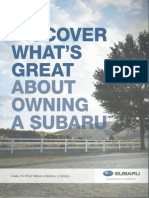 Subaru Welcome Kit and Guide to Ownership